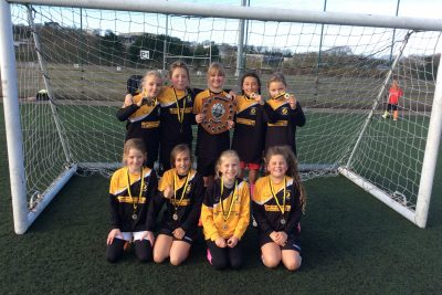 Newquay Junior Academy Girls are Football Champions.